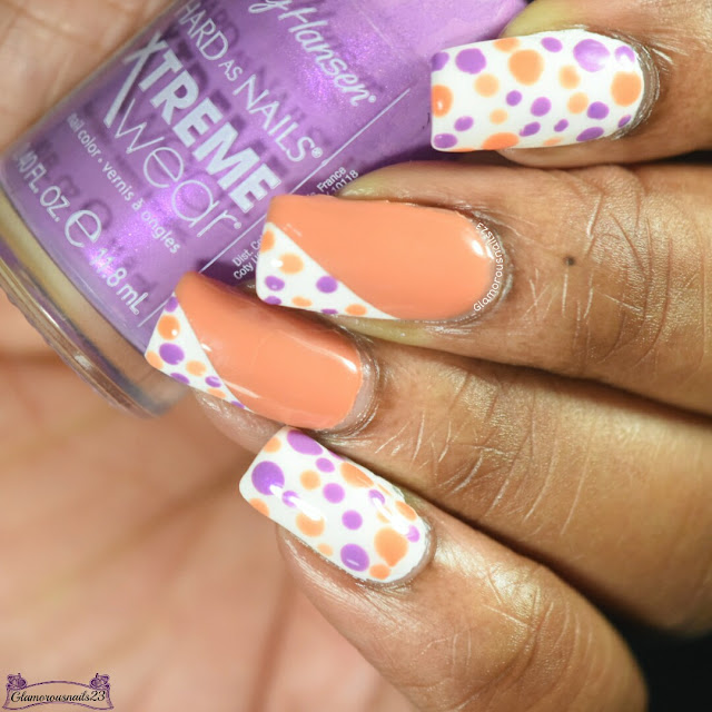 Purple & Orange Dotticure