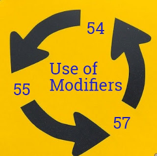 When to use Modifier 54, 55 and 57 with CPT codes