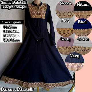gamis serba 100rb balotelli mix songket