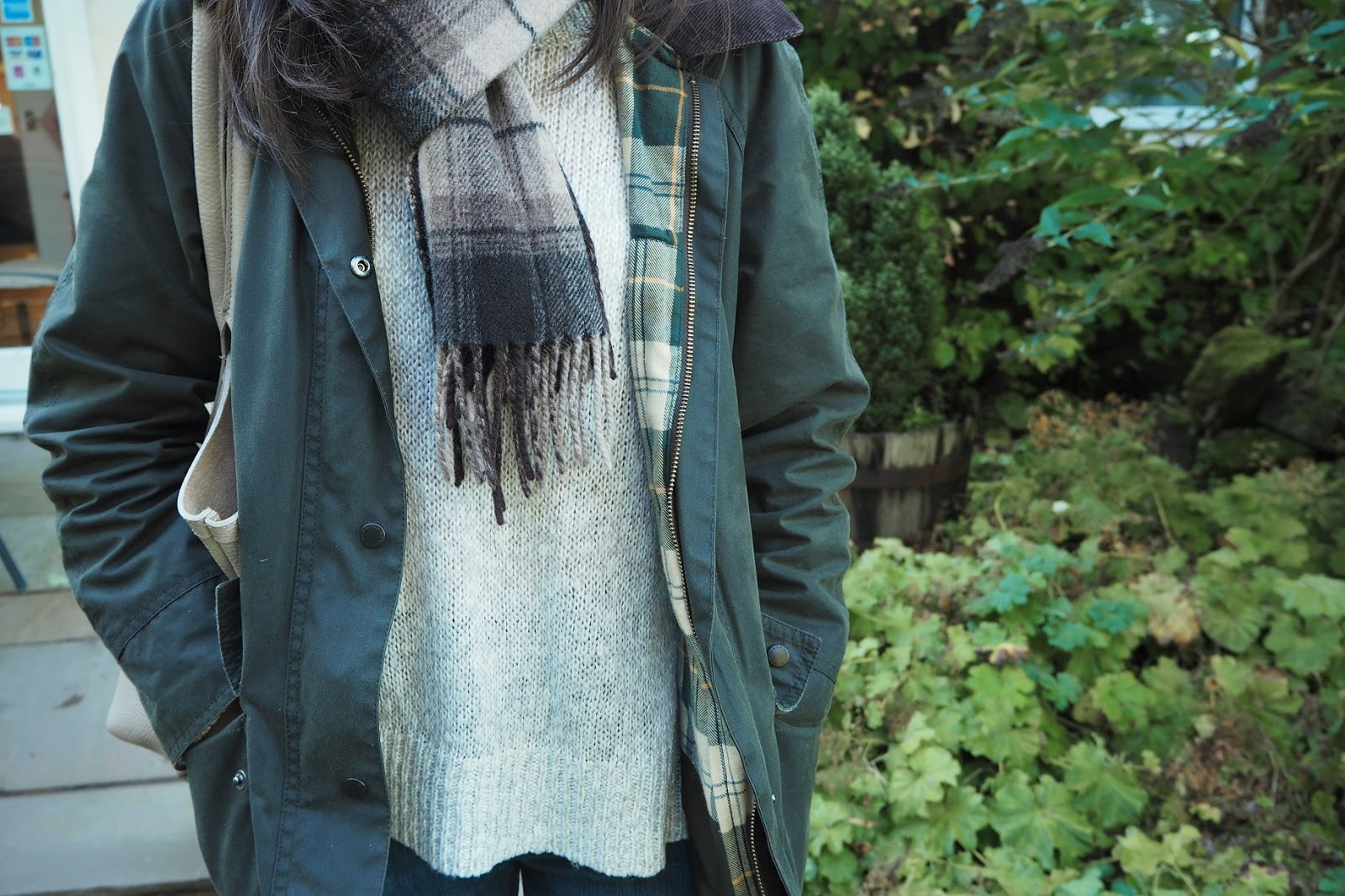 how to wear a Barbour jacket, Barbour outfit ideas,