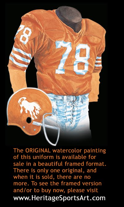 a7b418392b4 Denver Broncos Uniform and Team History | Heritage Uniforms and Jerseys