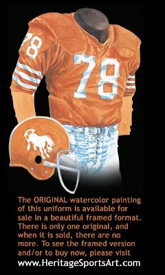 Denver Broncos 1963 uniform