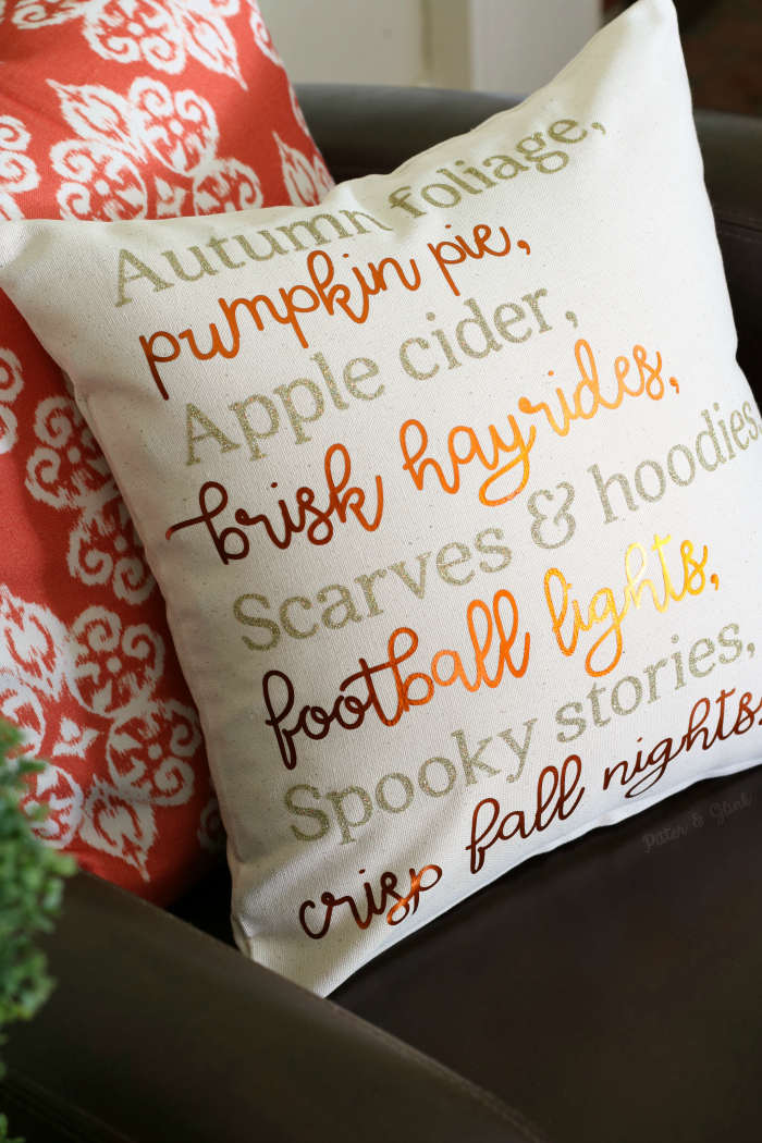 DIY Fall Poem Pillow