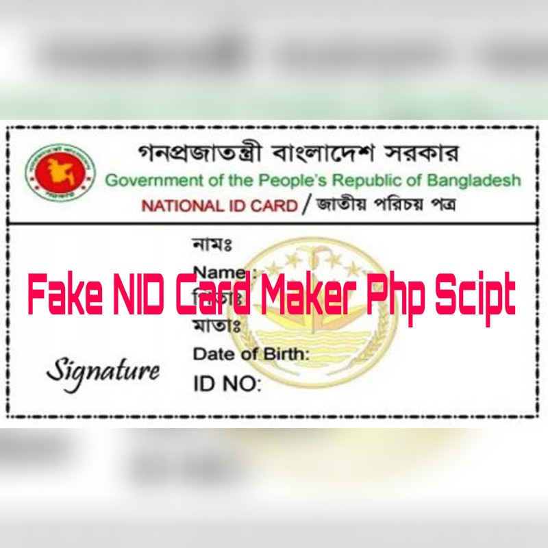 Fake Nid Card Maker Script