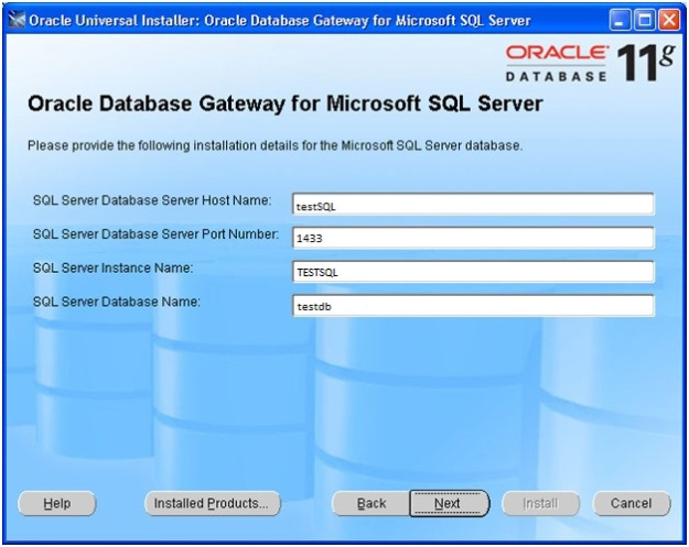 DBA Catalog: Database Link between Oracle Database and SQL Server