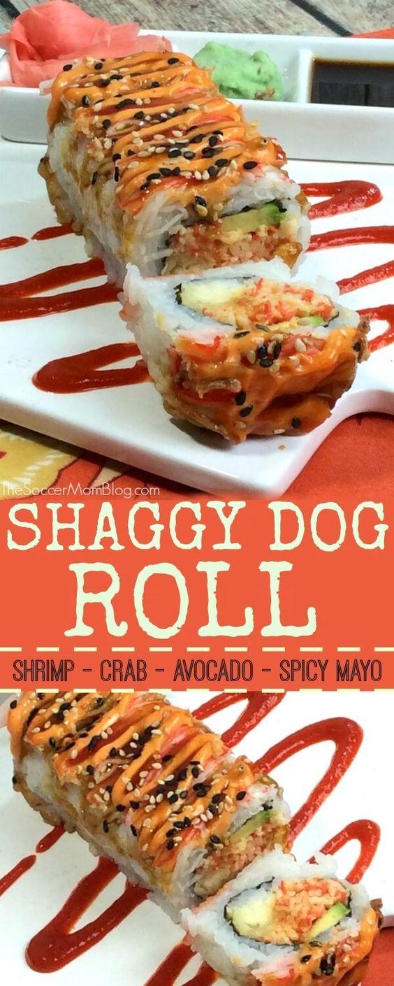 Shaggy Dog Roll Sushi (Easy Copycat Recipe)