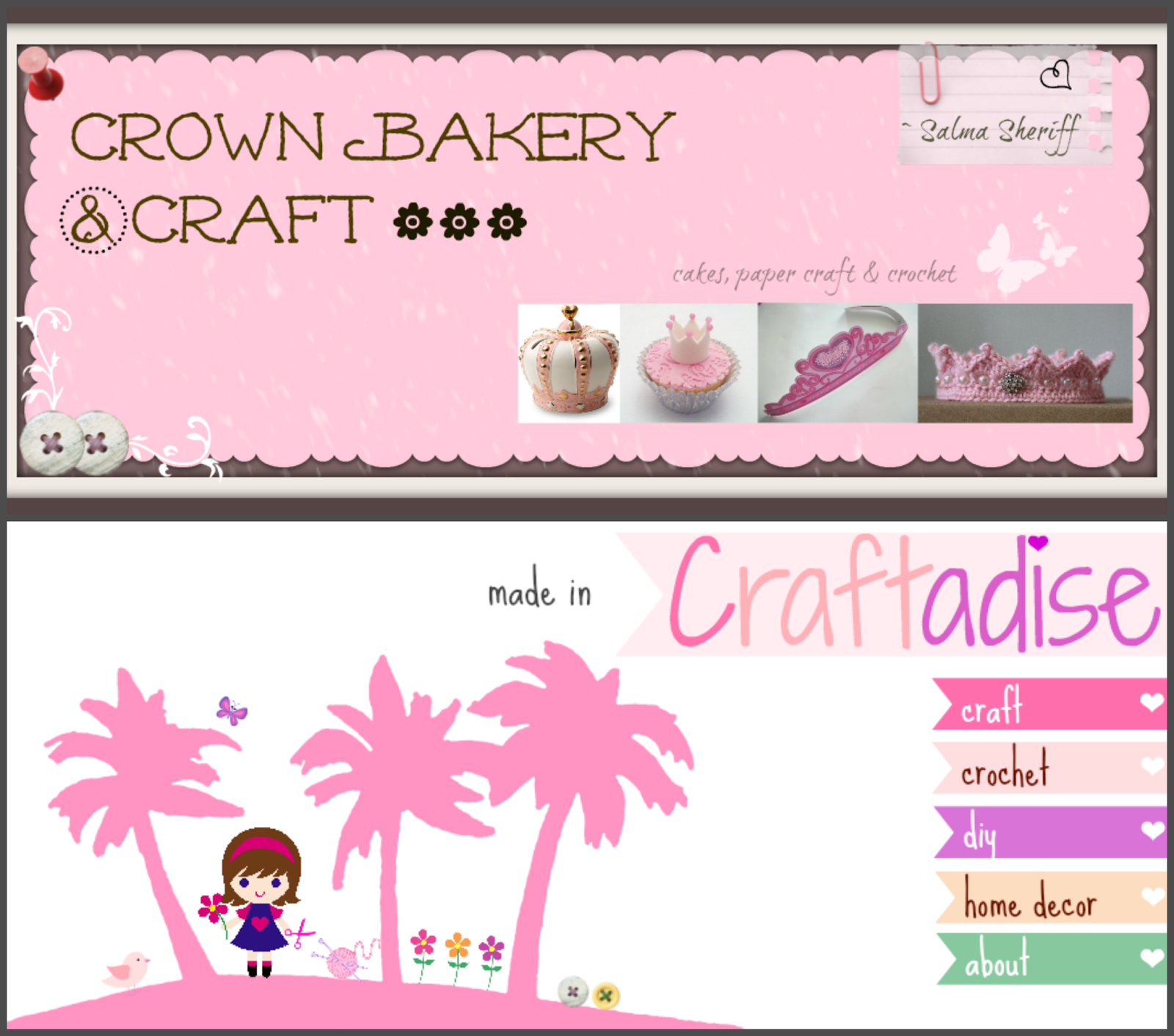 Made in craftadise, My Blogging experience so far, Blogging tips, header