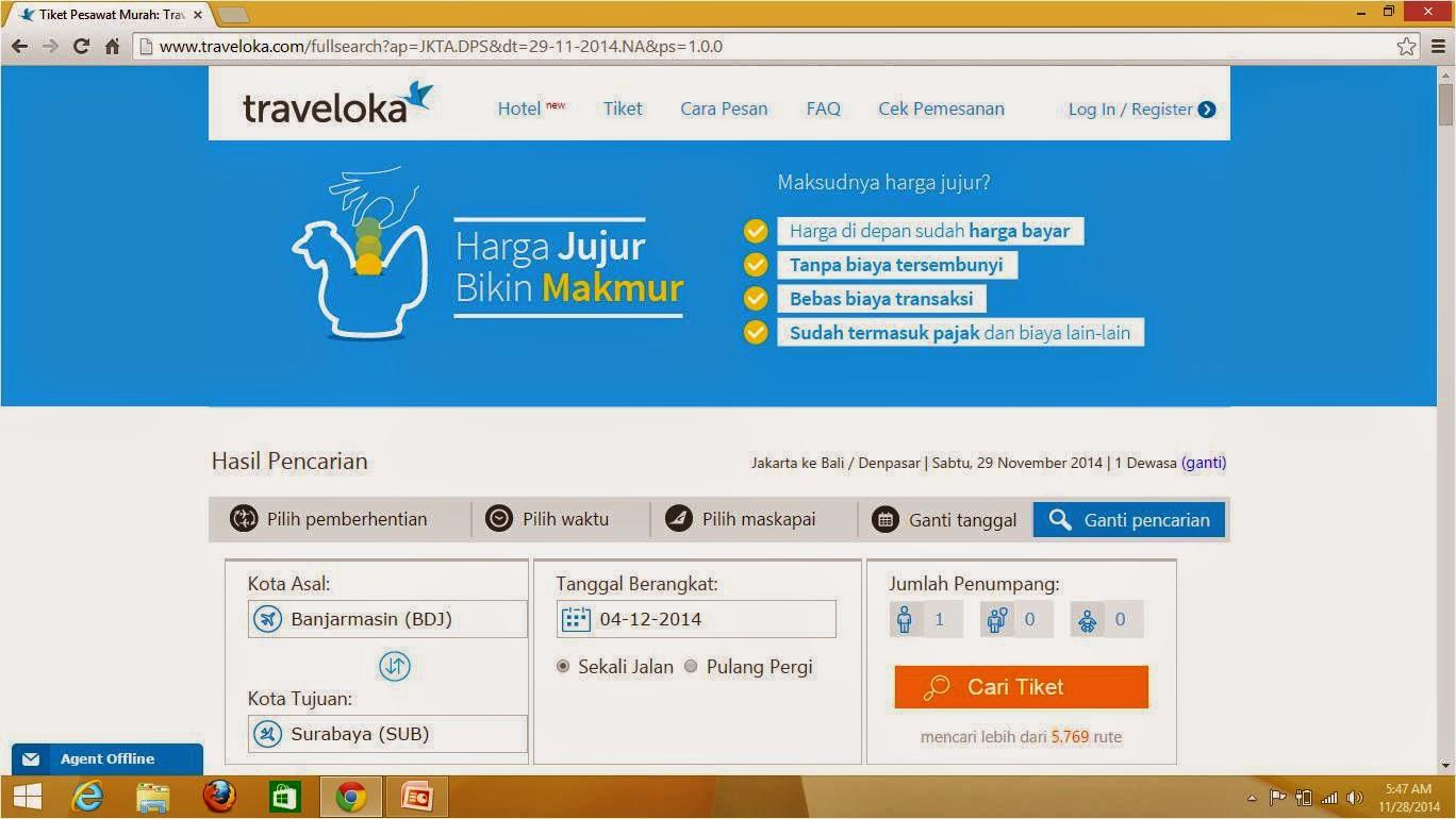 Pengalaman Membeli Tiket Pesawat di Traveloka.com