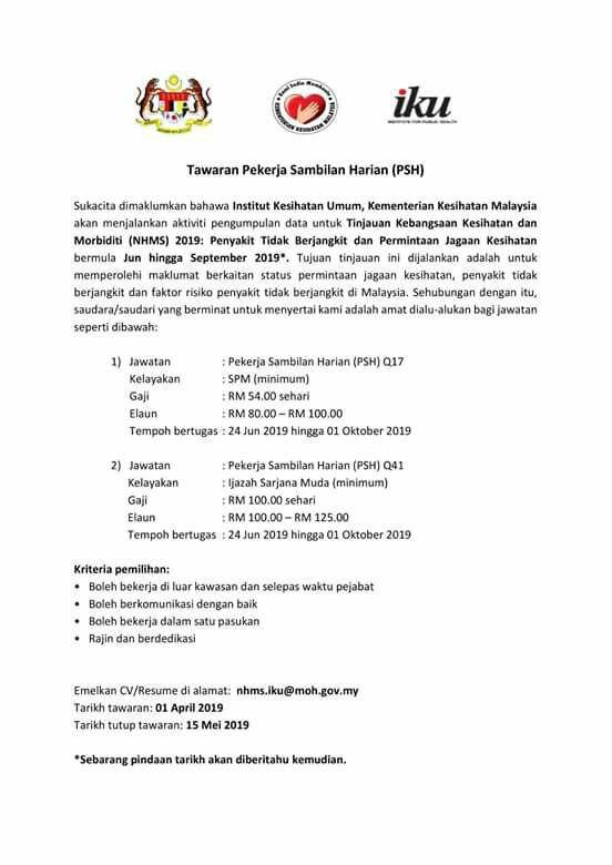 Jawatan Kosong Di Kementerian Kesihatan Malaysia Kkm Jobcari Com Jawatan Kosong Terkini