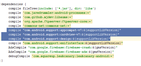 Fix compile error in android studio