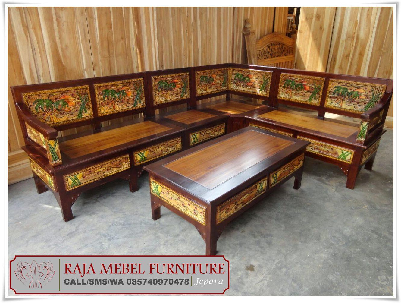 Kursi Tamu Sudut Minimalis Mewah Terbaru Jepara Raja Mebel Furniture
