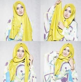 Tutorial hijab pashmina simple tanpa ninja dian pelangi