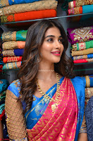 Puja Hegde looks stunning in Red saree at launch of Anutex shopping mall ~ Celebrities Galleries 068.JPG
