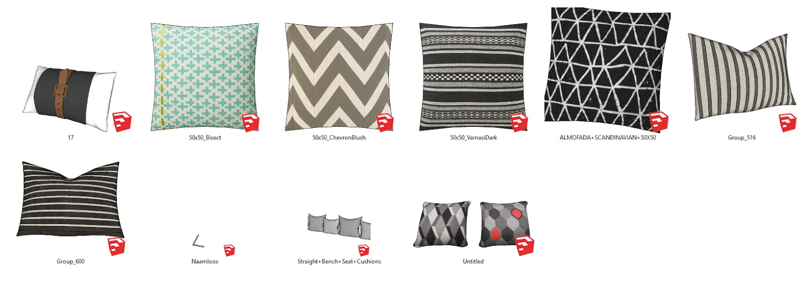 Free Sketchup Model  Throw Pillow Collection - FREE STUFFS FOR ... f44c89eda