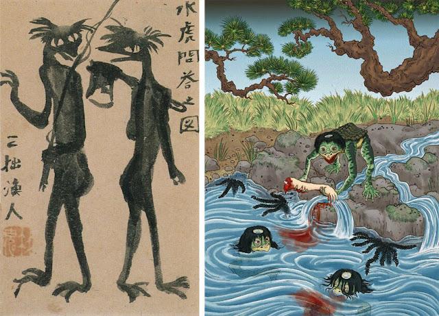 Εικονογραφήσεις για το Κάππα του Ριουνοσούκε Ακουταγκάουα / Akutagawa's Kappa illustrations
