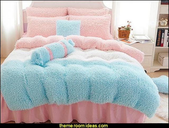 faux fur home decor - fuzzy furry decorations - Flokati - mink - plush - shaggy - faux flokati upholstery - super soft plush bedding - sheepskin - Mongolian lamb faux fur
