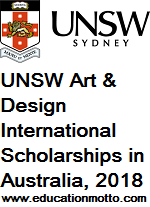 UNSW Art & Design International Scholarships in Australia, 2018, Masters programme, Eligibility Criteria, Description, Method of Applying, Online Application, Deadline
