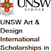 UNSW Art & Design International Scholarships in Australia, 2018