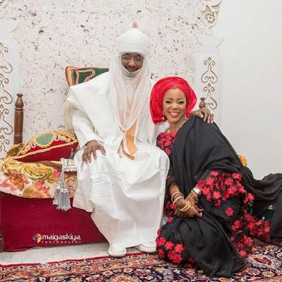 Photographs: Emir of Kano with his daughter, Princess Siddika at her wedding Walima