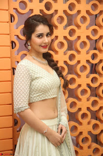 Raashi Khanan looks stunning in Crop Top Deep neck Choli Ghagra Transparent Chunni WOW ~  Exclusive Celebrities Galleries 099.JPG