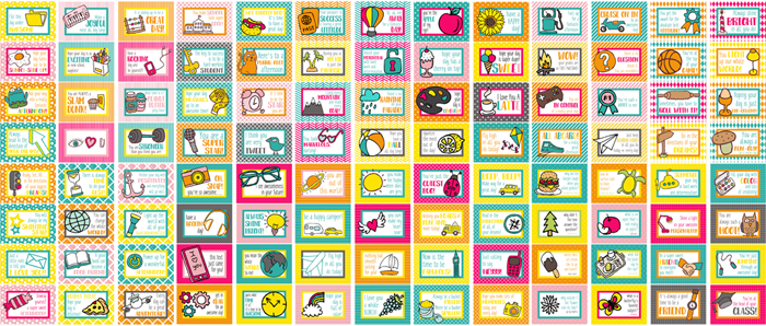 100 Printable Lunch Box Notes