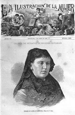 Portada de La Ilustración de la Mujer, Barcelona, 8-6-1884