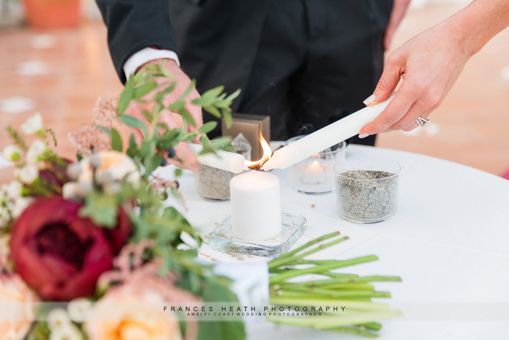 Lighting wedding candles