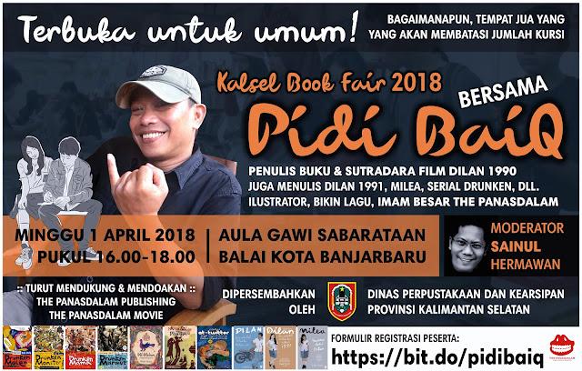 Kalsel Book Fair 2018 bersama Pidi Baiq