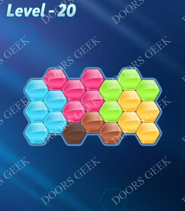 Block! Hexa Puzzle [Rainbow A] Level 20 Solution, Cheats, Walkthrough for android, iphone, ipad, ipod