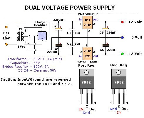Dual Voltage Power Supply | Electrical Engineering World