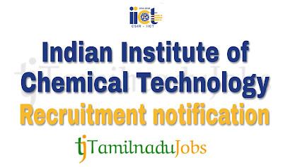 IICT Recruitment notification of 2018, govt job for ITI