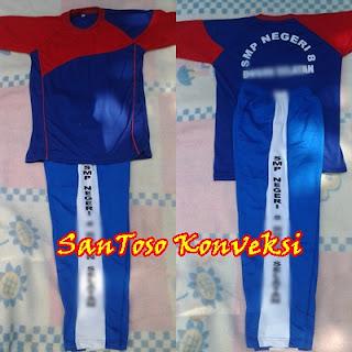 Kaos Seragam Olahraga SMP Model Trening Panjang