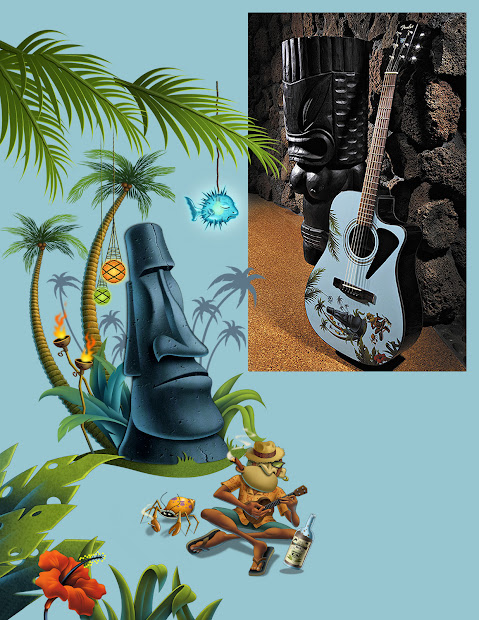 Surfwriter Girls Tiki Art Culture Alive