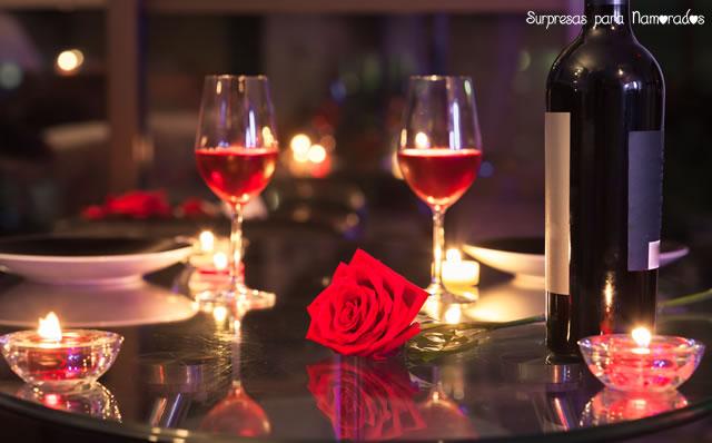 sugestões para um jantar romântico