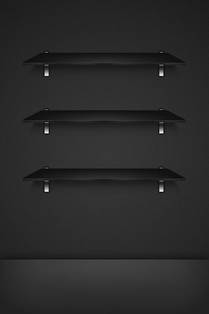 Iphone Image Wallpaper 3 Dark Glass Shelves The Best