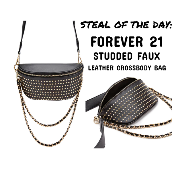 e50acaa39f Steal of the Day - Forever 21 Studded Faux Leather Crossbody Bag