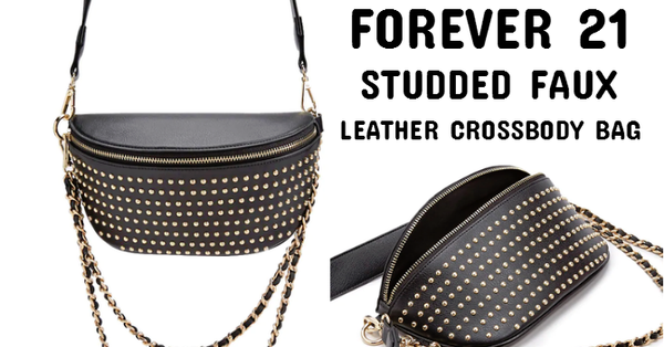 89d0560c663 Steal of the Day - Forever 21 Studded Faux Leather Crossbody Bag