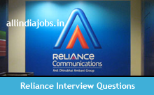 Reliance Communications Interview Questions