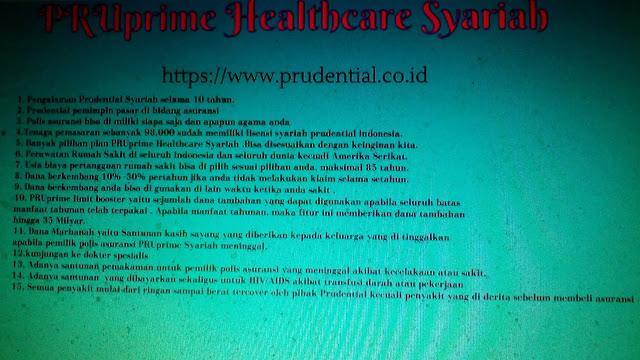 keunggulan pruprime healthcare syariah