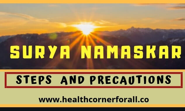 SURYA NAMASKAR STEPS AND PRECAUTIONS