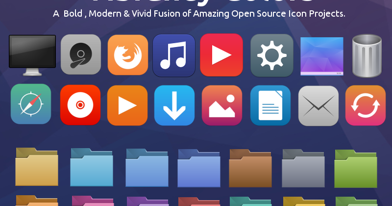 RAVEfinity: Vibrancy Colors GTK Icon Theme