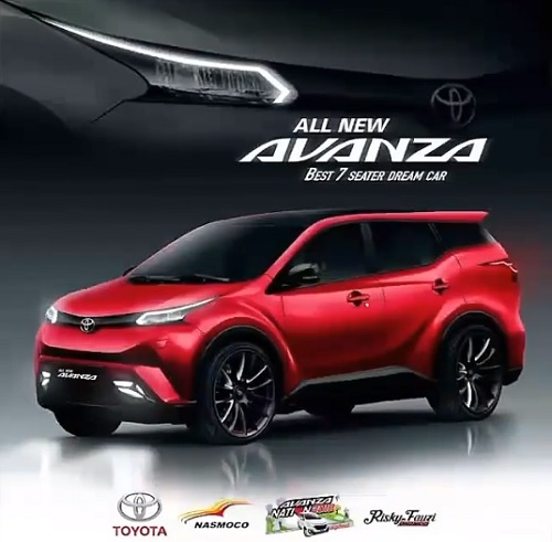 Design Merah Toyota Avanza Baru