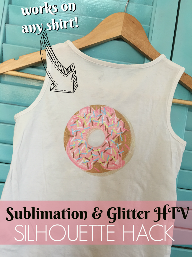 sublimation with silhouette cameo, white glitlter htv sublimation printer