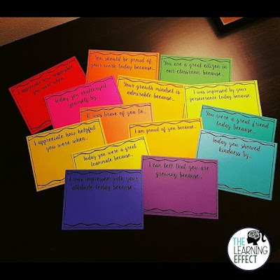 Give students a positive note to let them know how awesome they are!