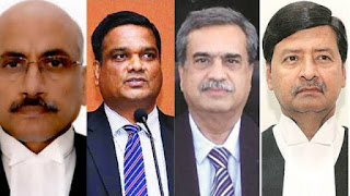 Justices Hemant, Subhash, M R Shah & Ajay were sworn in as judges of SC