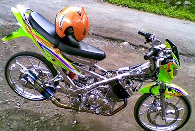 Kumpulan Gambar Modifikasi Motor Satria Fu Paling Keren Indonesia