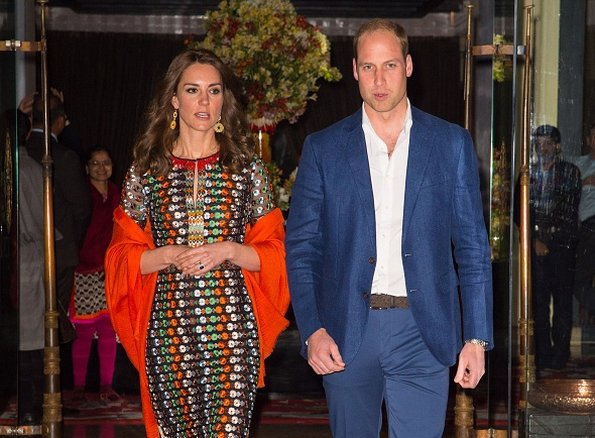 Kate Middleton and Prince William, King Jigme Khesar Namgyel Wangchuck and Queen Jetsun attends a dinner at Taj Tashi hotel in Bhutan
