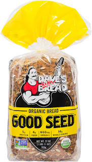 Promotional photograph, loaf of Dave's Killer Bread, 'Good Seed,' stood on end