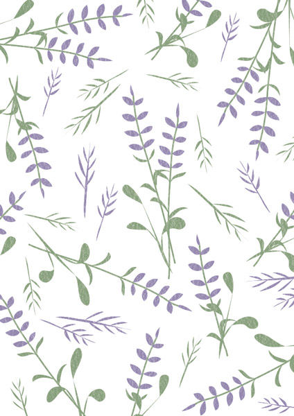 Lavendel pattern, Muster