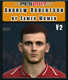 PES 2017 Faces Andrew Robertson by Sameh Momen